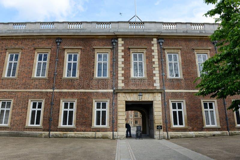 Facade of Brick Building at Eton College, England stock photography