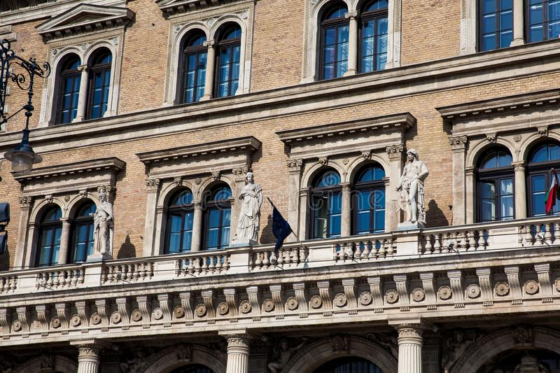 Building of the Corvinus University of Budapest. Facade of the building of the Corvinus University of Budapest royalty free stock photos