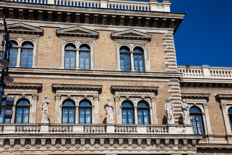 Building of the Corvinus University of Budapest. Facade of the building of the Corvinus University of Budapest royalty free stock photo