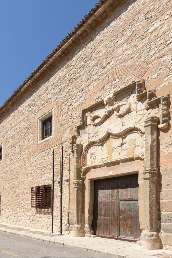 Facade of Cardenas Palace in Ocaña,Toledo province, Castile-La Mancha, Spain.  royalty free stock images