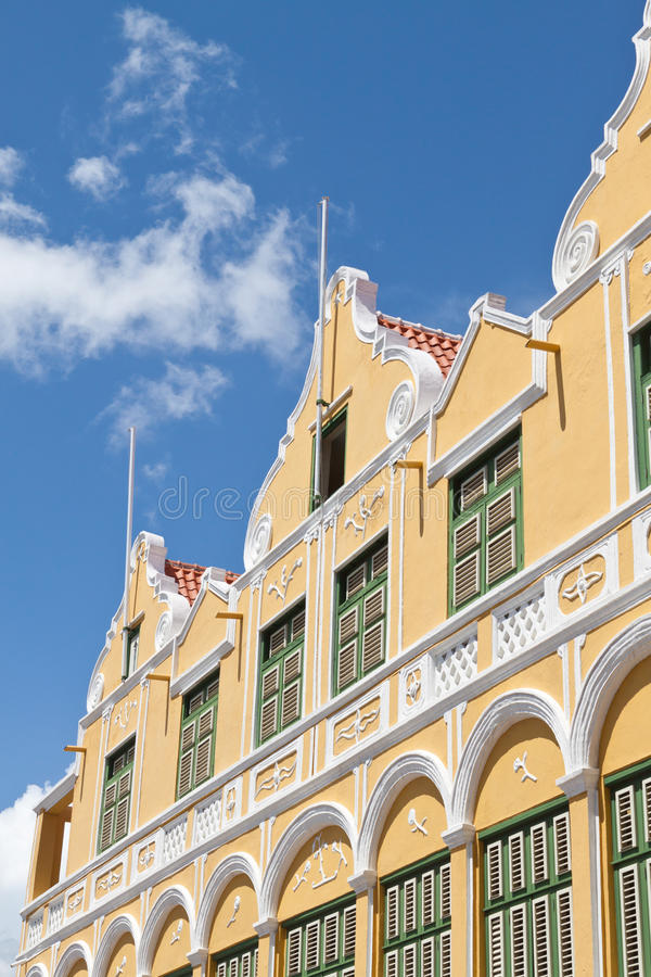 Download Facade Of Caribbean Dutch Colonial Building Stock Image