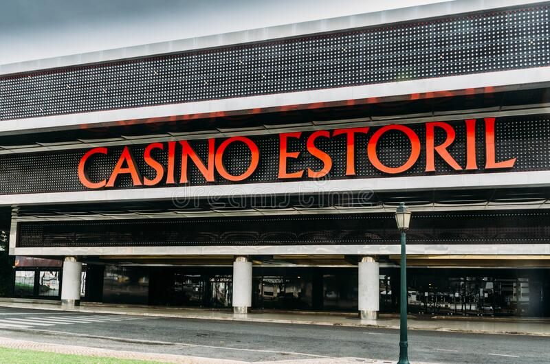 Facade of Casino Estoril in Estoril, Portugal which is closed due to the Coronavirus Covid-19 epidemic stock images