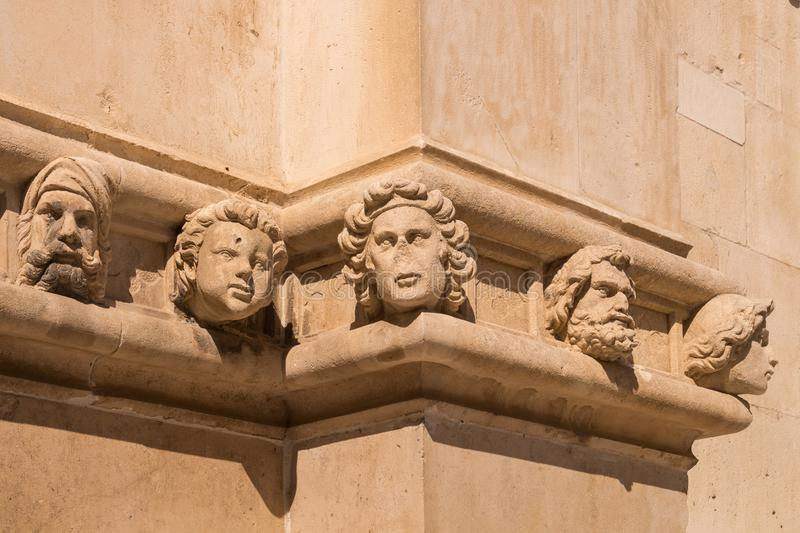 Facade of the Cathedral of St.James, Sibenik stock photography