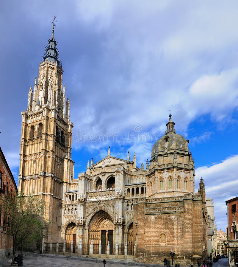 Saint Mary of Toledo; a Cathedral in Spain stock images
