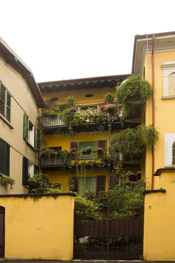 Facade Cernobbio south lake Como, Italy stock image