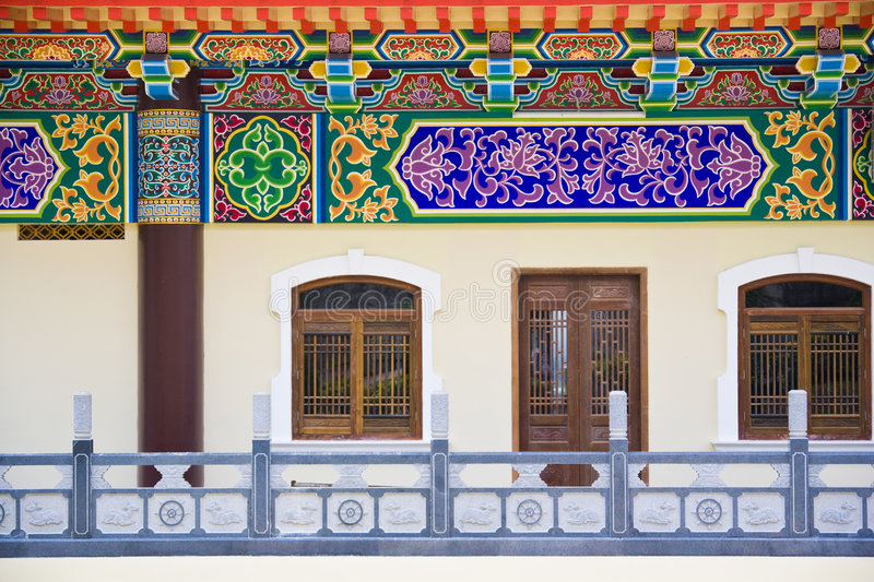 Download Facade of a Chinese Temple stock image. Image of religion - 8629807