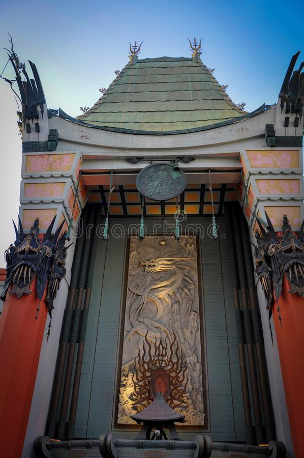 Facade of the Chinese Theater in Los Angeles. Facade of the Famous Chinese Theater in Los Angeles royalty free stock images