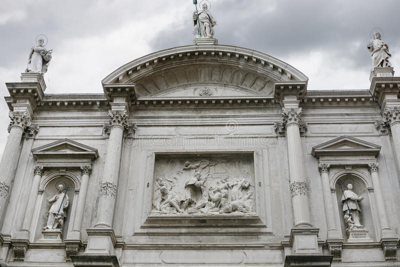 Facade of Church of Saint Roch in Venice. Travel to Italy - facade of Church of Saint Roch Chiesa di San Rocco in Venice royalty free stock photography