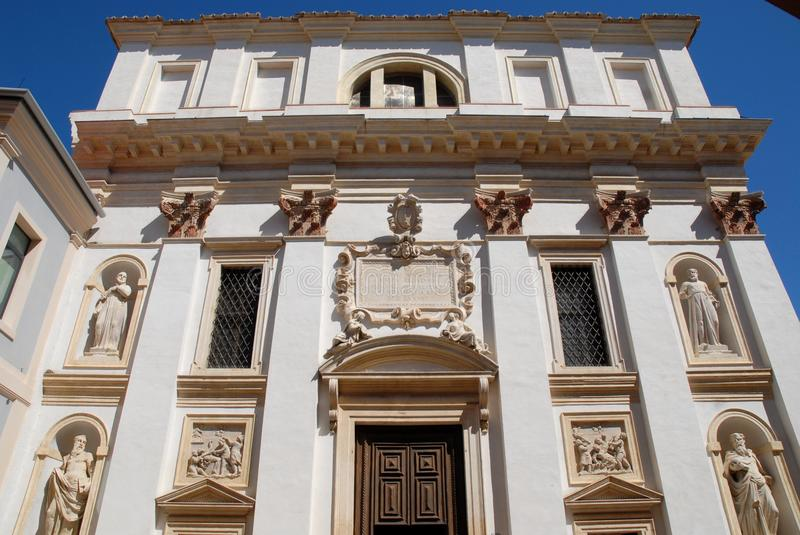 Facade of the church of San Gaetano in Padua in the Veneto (Italy) stock image
