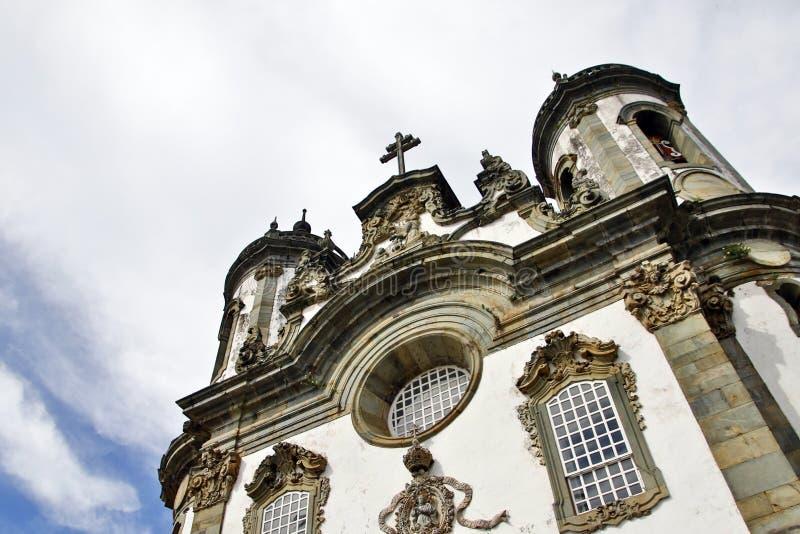 Church of Saint Francis of Assisi in Sao Joao del-Rei Minas Gerais. Facade of the church of Sao Francisco de Assis in the city of Sao Joao del-Rei in Minas stock photography