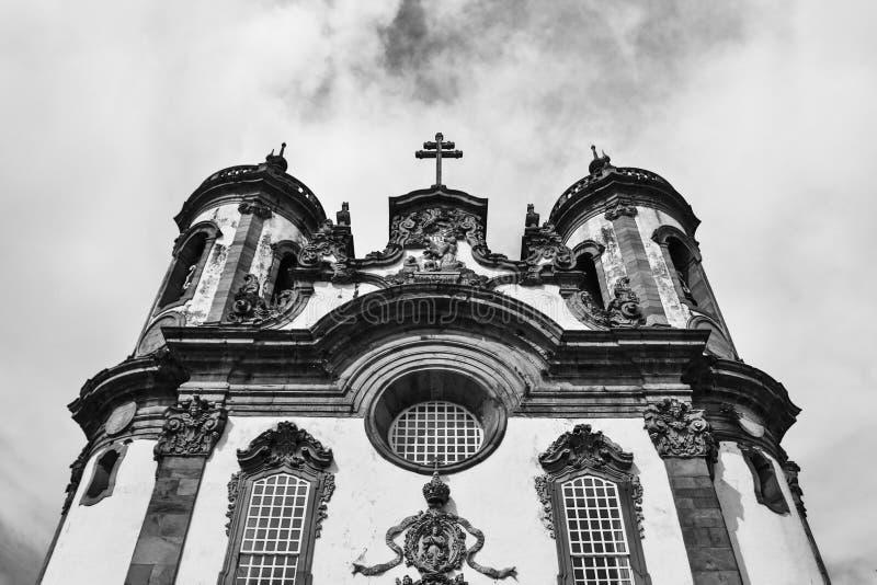 Church of Saint Francis of Assisi in Sao Joao del-Rei Minas Gerais. Facade of the church of Sao Francisco de Assis in the city of Sao Joao del-Rei in Minas stock photos