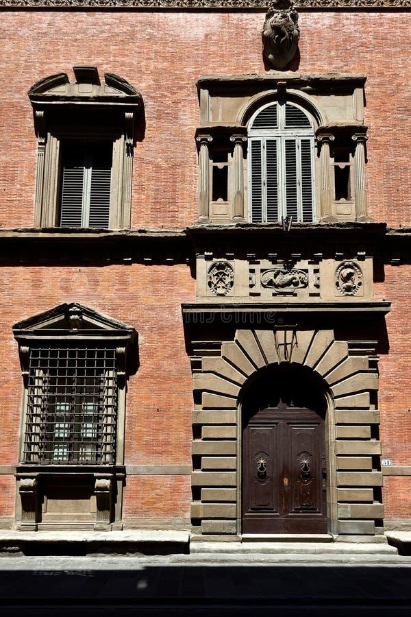 Facade city house, Florence, Italy stock photo