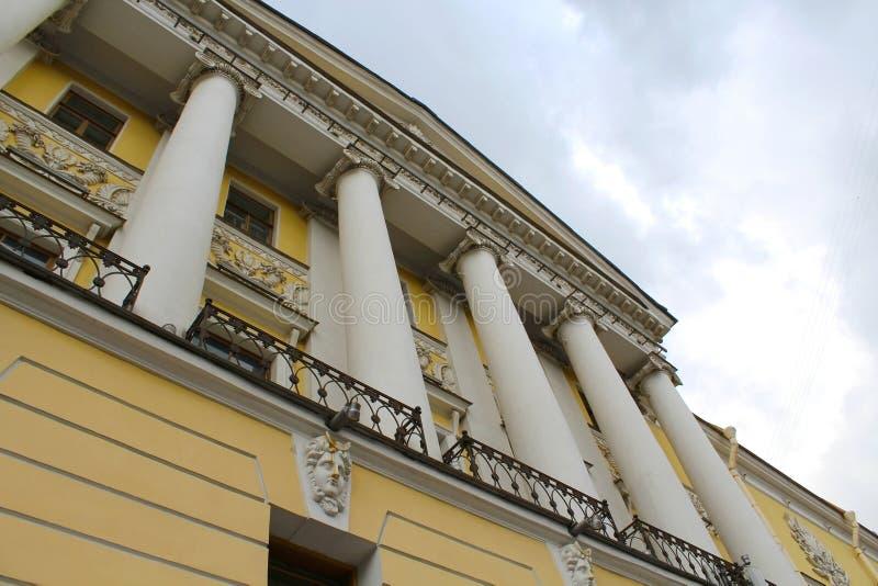 Facade of classical building stock photos