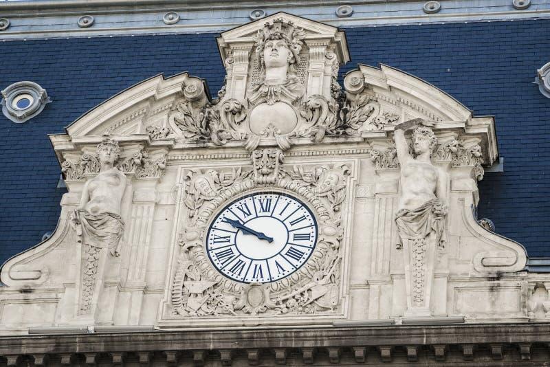 Facade clock stock photos