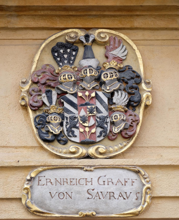 Download Facade Coat Of Arms On The Landhaus Historic Center Listed As World Heritage By UNESCO In Graz Stock Photo - Image of provincial, building: 90562752