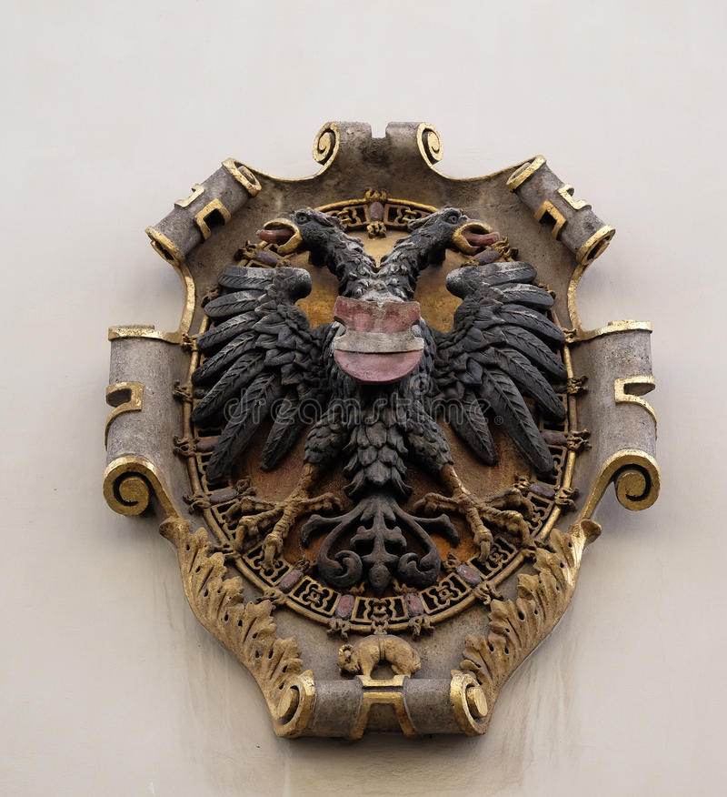 Download Facade Coat Of Arms On The Landhaus Historic Center Listed As World Heritage By UNESCO In Graz Stock Photo - Image of herrengasse, architecture: 90562646
