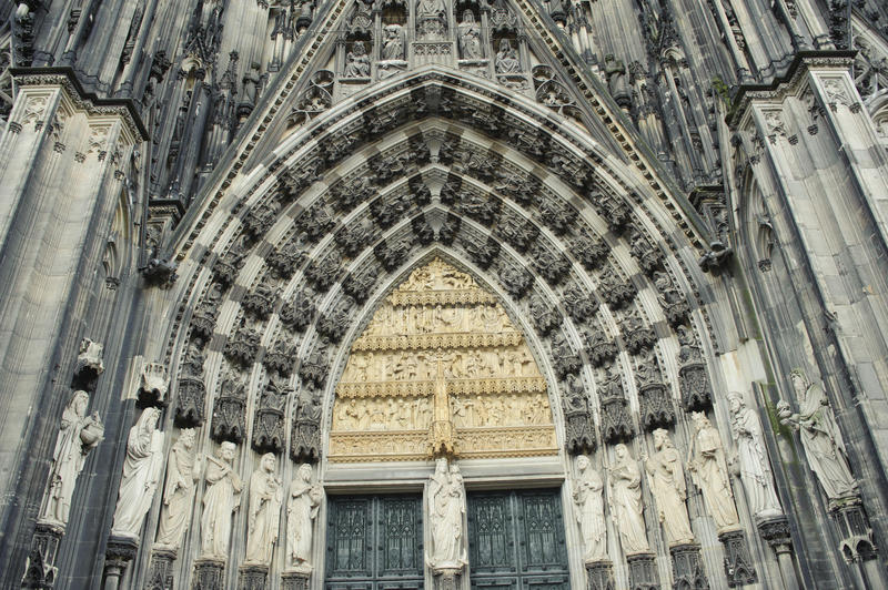 Download Facade Of Cologne Cathedral In Germany. Stock Photo - Image: 24391372