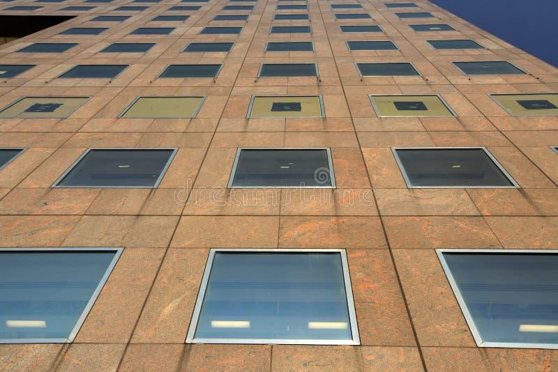 Facade of a commercial building royalty free stock photos