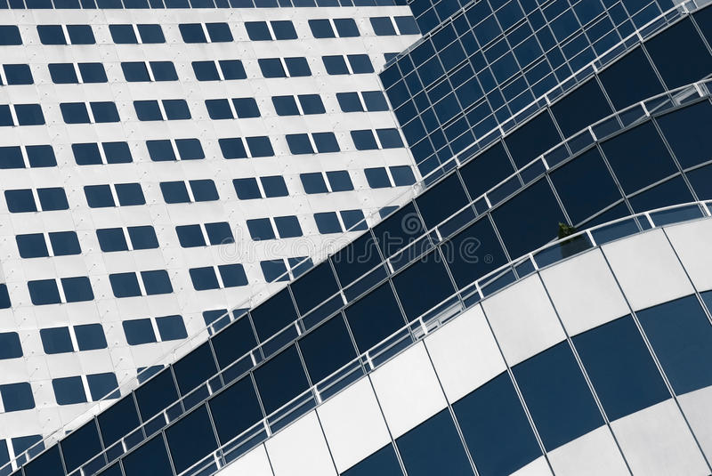 Facade of a contemporary building royalty free stock images