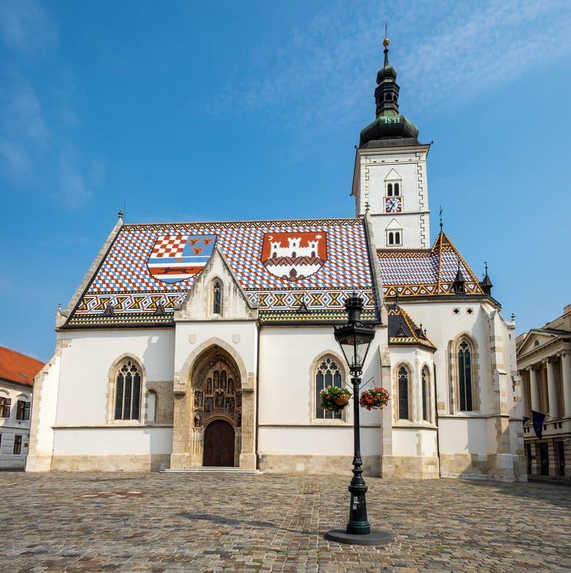 Facade da Igreja de São Marco imagem de stock