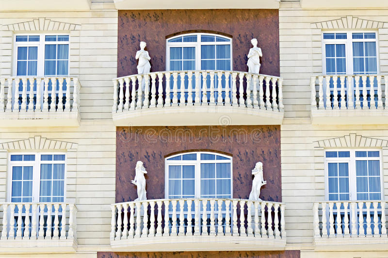 Facade Decorated Female Sculptures Royalty Free Stock Image