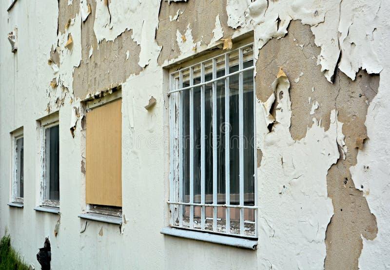 Facade. Dilapidated facade on a building in Magdeburg royalty free stock photos