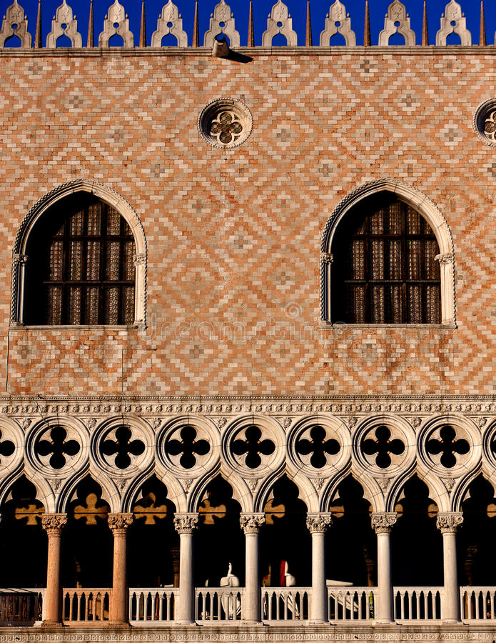 Facade doge palace in Venice, Italy royalty free stock images