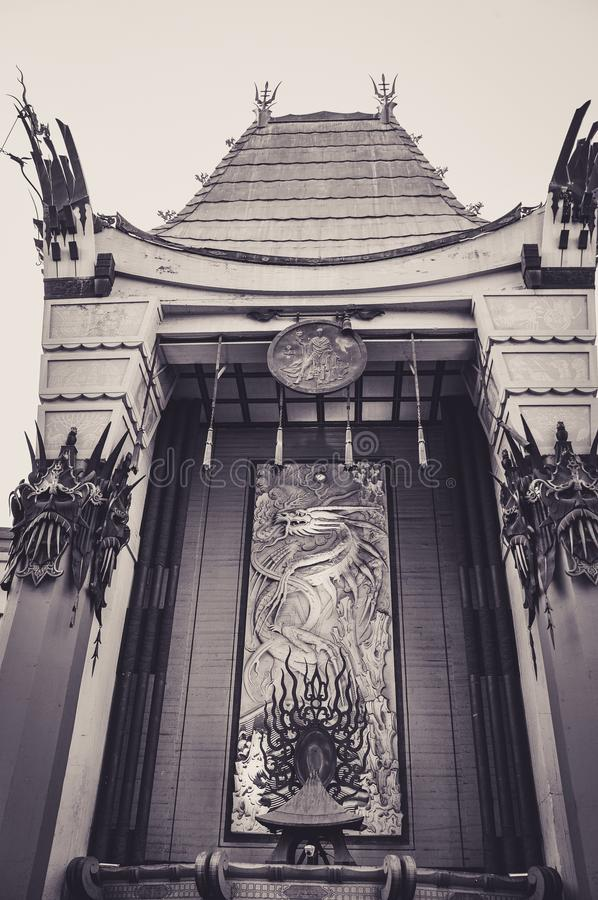 Facade of the Chinese Theater in Los Angeles. Facade of the Famous Chinese Theater in Los Angeles royalty free stock photos