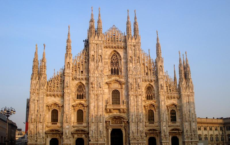 Duomo cathedral in Milan, Italy. Piazza del Duomo. royalty free stock images