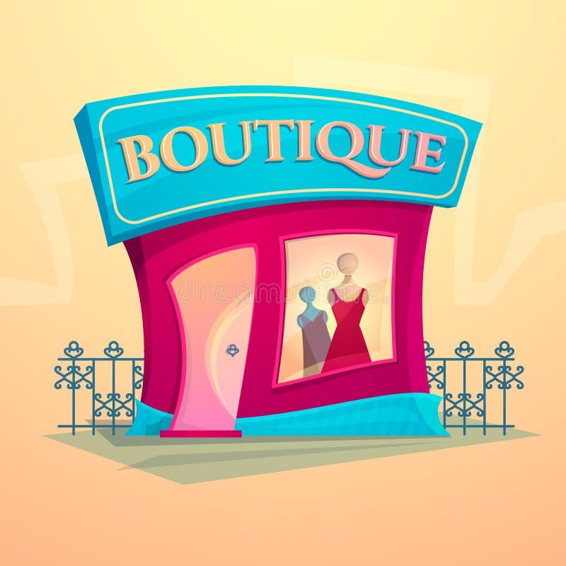 Facade fashion shop, vector illustration vector illustration