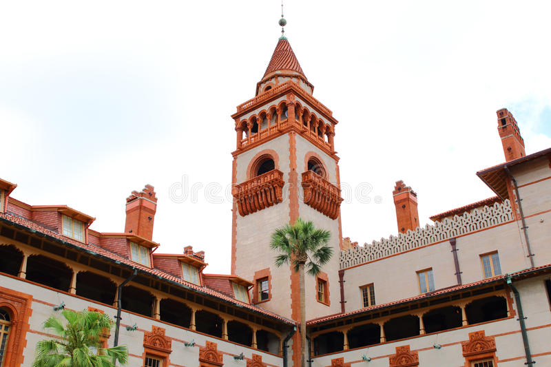 Facade of Flagler College in St Augustine. Florida stock photo