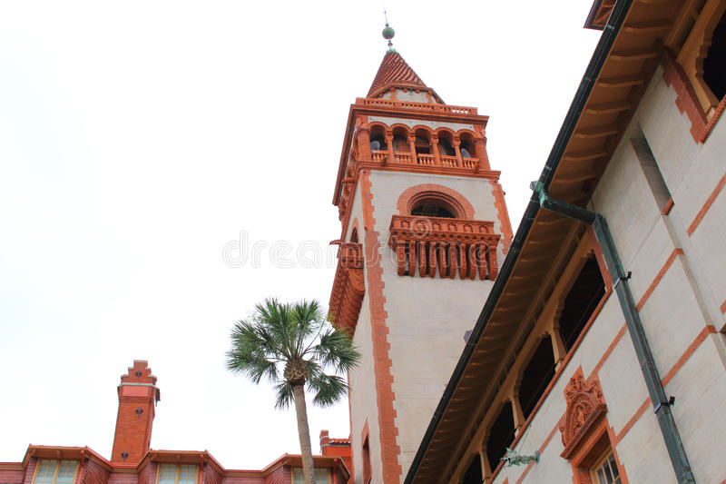 Facade of Flagler College in St Augustine. Florida royalty free stock photography