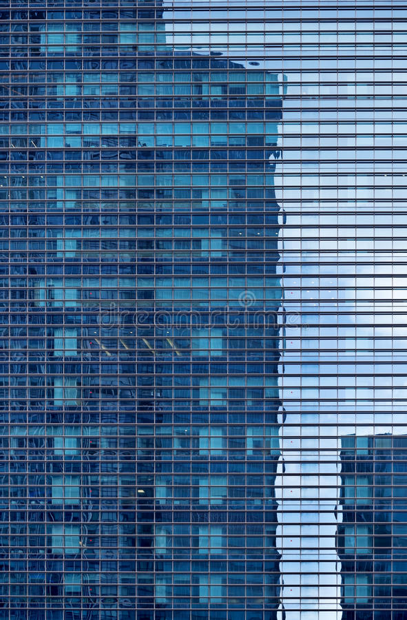 Facade of glass building stock images