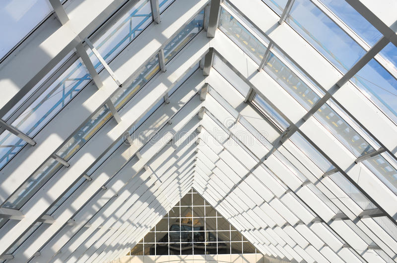 System from an aluminium for facades and transparent roofs royalty free stock images