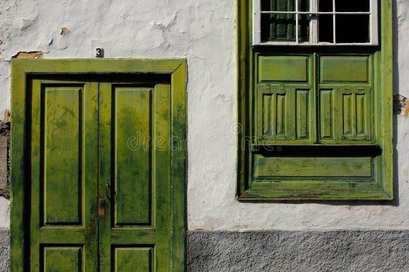 Download Facade With Green Window And Door Stock Image - Image: 9445513