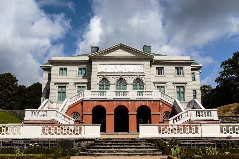 Facade of the Gunnebo Slott palace outside Gothenburg, Sweden. Scandinavia stock photo