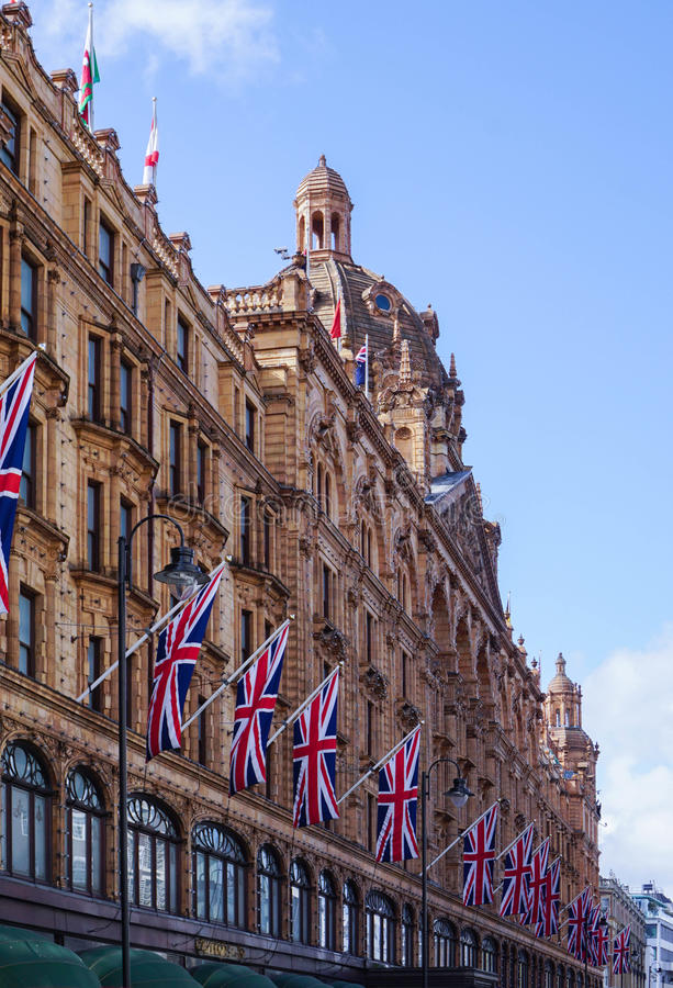 Facade Harrods London royalty free stock images