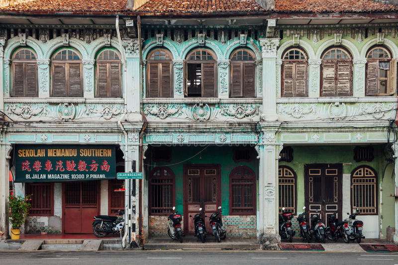 Download Facade Of The Heritage Building, Penang, Malaysia Editorial Stock Photo - Image of georgetown, shop: 75409528