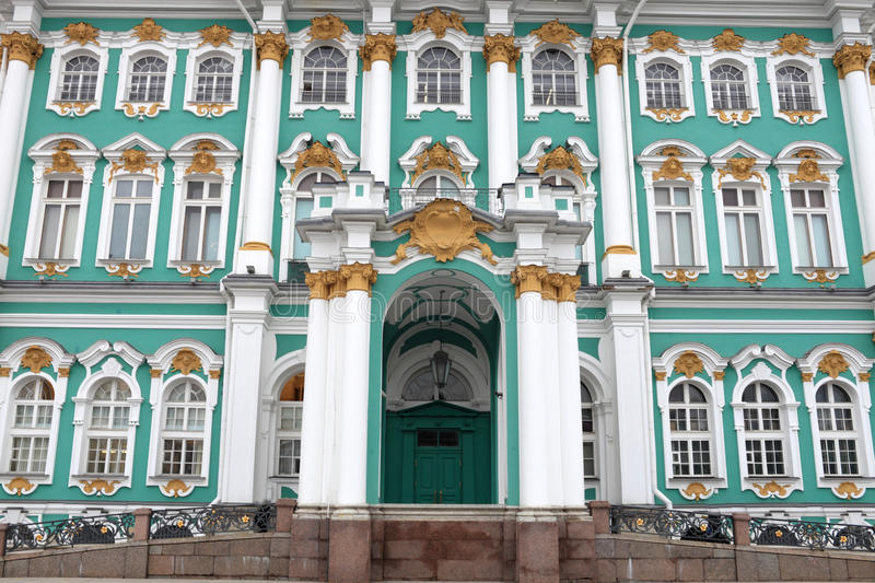 Facade Of The Hermitage Building Stock Photos