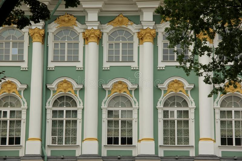 Hermitage. The facade of the Hermitage in Saint Petersburg, Russia stock images
