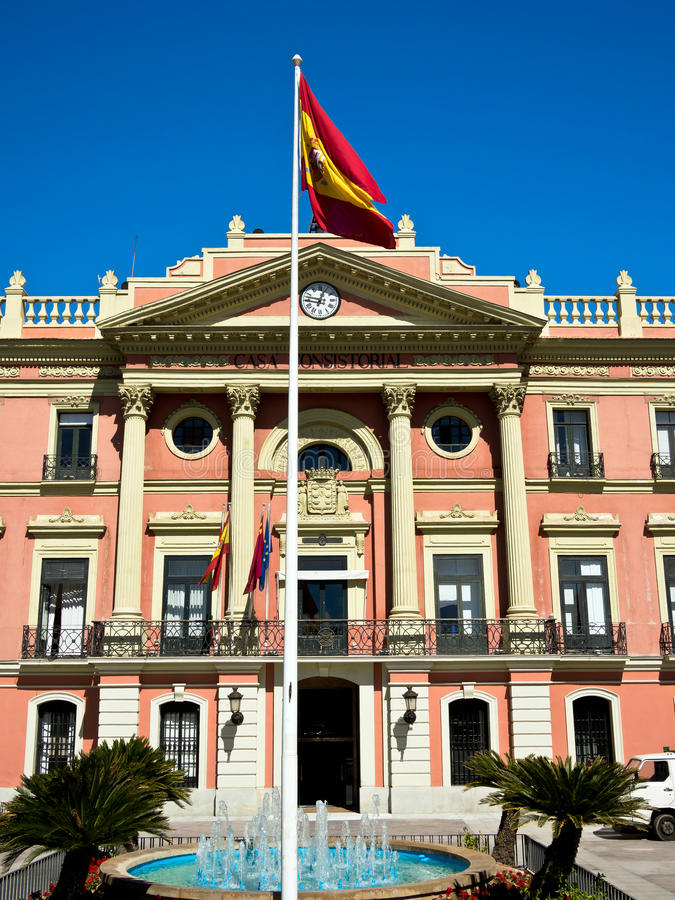 Town Hall in Murcia, Spain royalty free stock photos