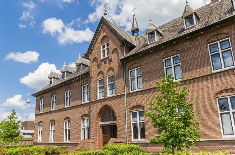 Facade of the historic monastery in Hoogeveen. Netherlands stock image