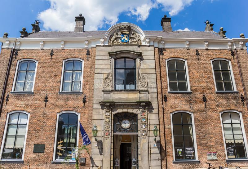 Facade of the historic town hall of Lochem. Netherlands royalty free stock images
