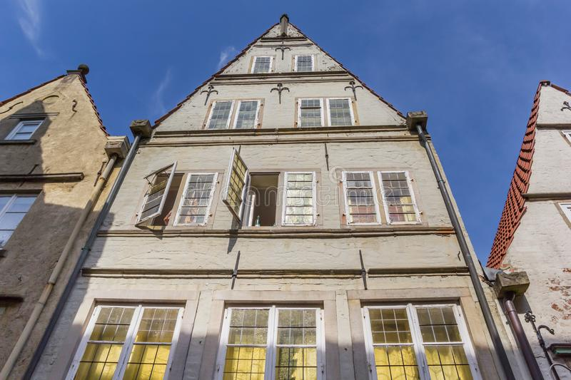 Facade of a histroic house in the Schnoor district of Bremen. Germany royalty free stock photography