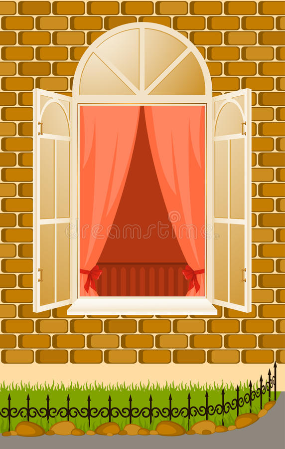 Facade Of House With Window Royalty Free Stock Photography
