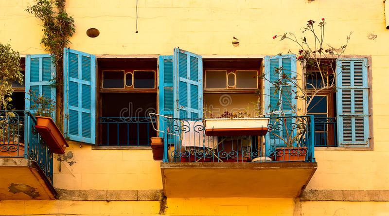Facade Jaffa Israel. An old facade in Jaffa Israel stock photo