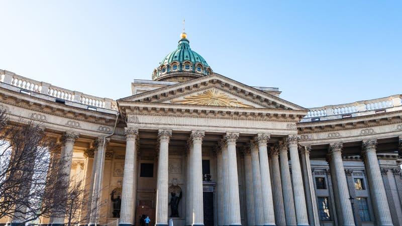 facade of Kazan Cathedral in Saint Petersburg royalty free stock photo