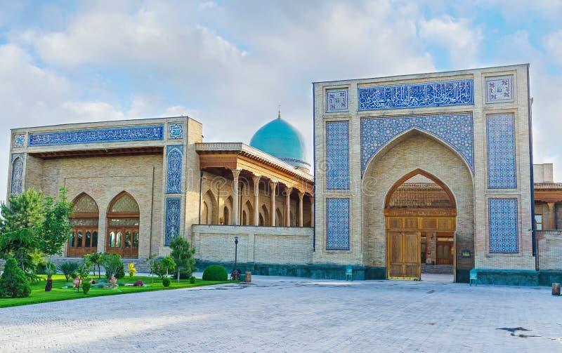 The facade of Khazrat Imam Mosque stock image