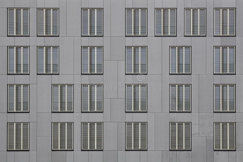 Facade of Luxembourg Institute of Socio-Economic Research w Belval, Luksemburg obrazy royalty free
