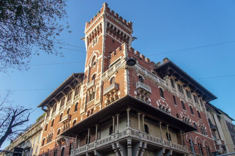 Facade in Milano, Italy. Facade in Milano, Italy, Europe royalty free stock photo